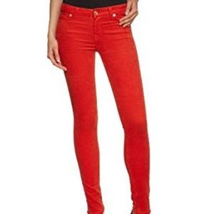 7 FOR ALL MANKIND Mid Rise Corduroy Pencil Skinny